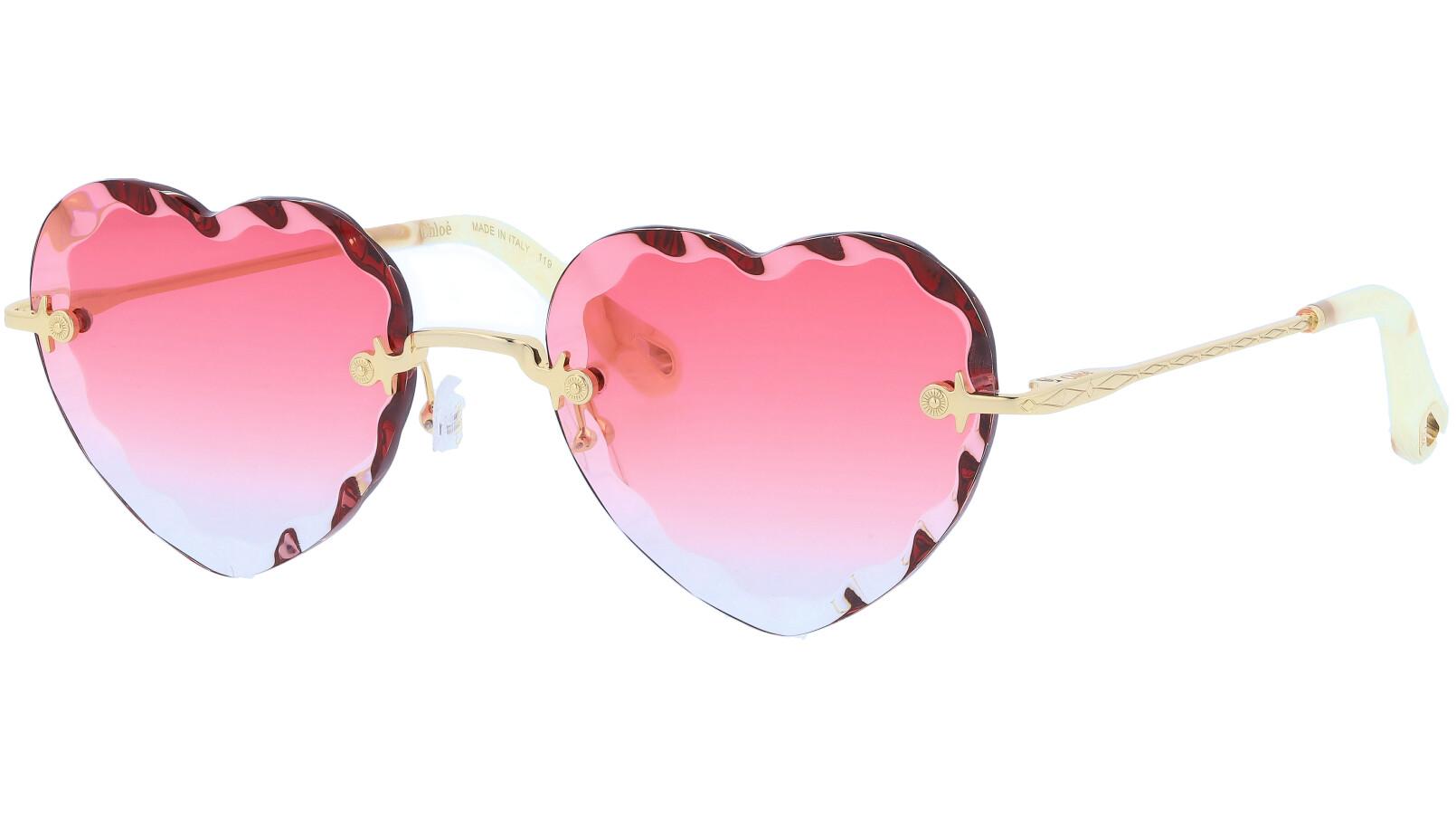 CHLOE Rosie CE150S 823 55 Gold Coral Sunglasses