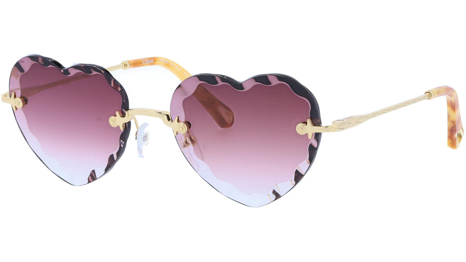 CHLOE Rosie CE150S 840 55 Gold Burgundy Sunglasses