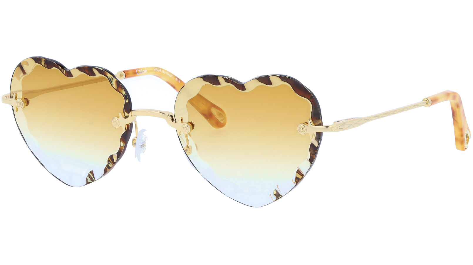 CHLOE Rosie CE150S 837 55 Gold Brown Sunglasses