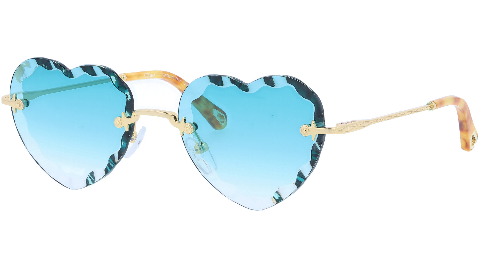 CHLOE Rosie CE150S 839 55 Gold Blue Sunglasses