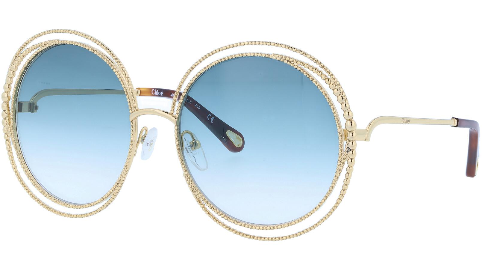 Chloé CE114SC 838 58 Gold Round Sunglasses