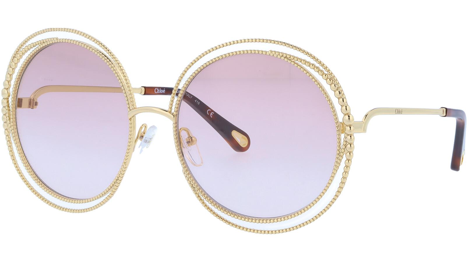 CHLOE CE114SC 722 58 Gold Round Sunglasses