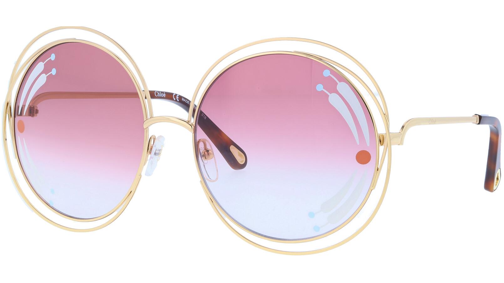 CHLOE CE114SRI 835 62 Gold Carlina Sunglasses