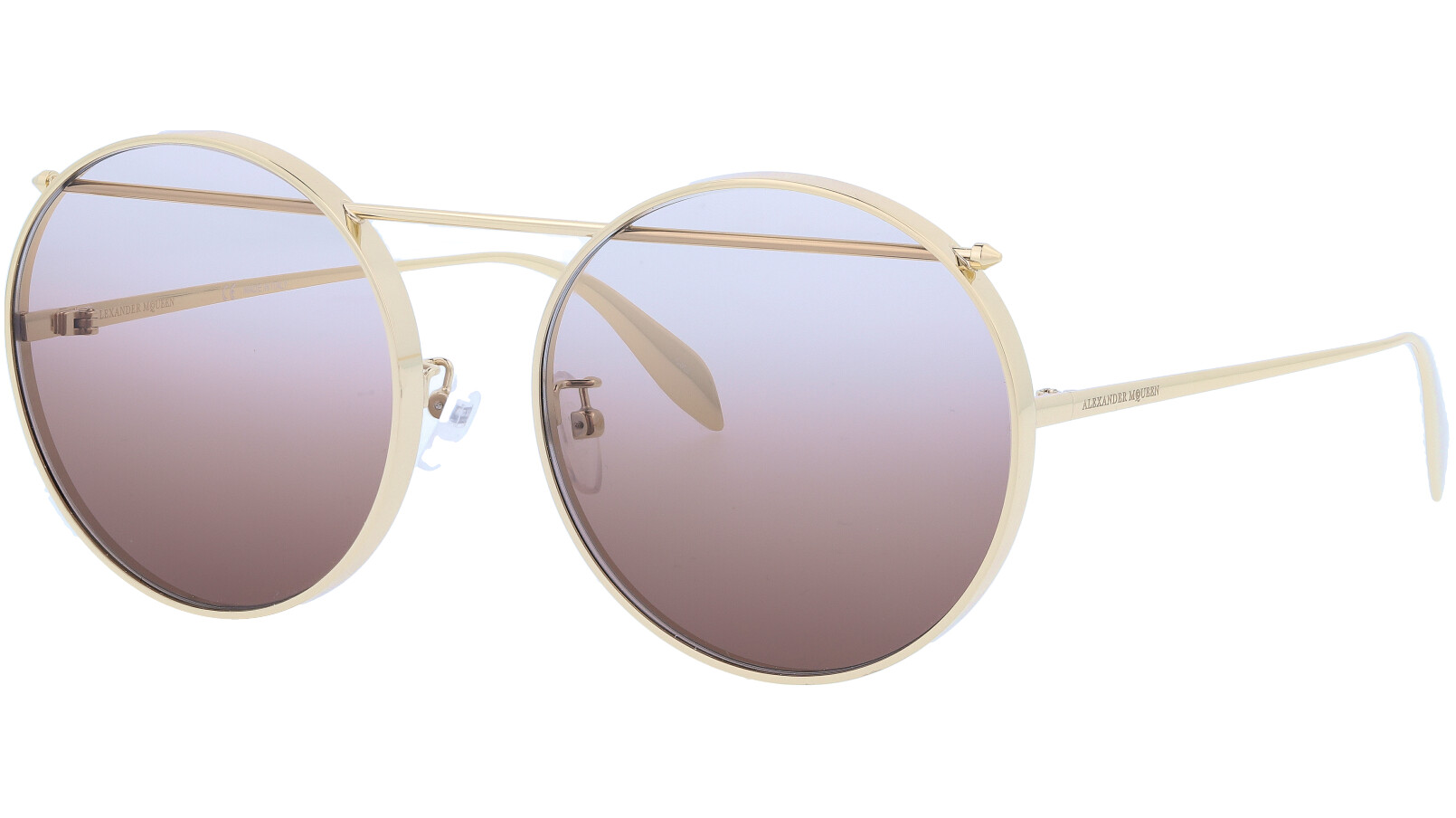 ALEXANDER MCQUEEN AM0137SA 001 60 GOLD Sunglasses