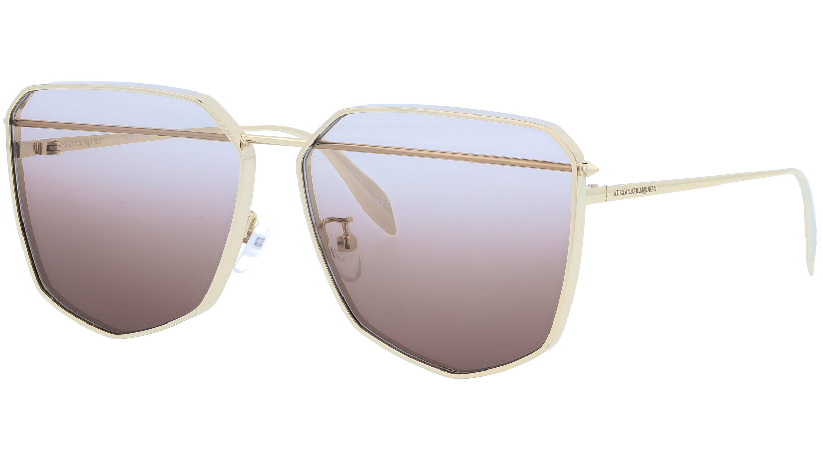 ALEXANDER MCQUEEN AM0136S 001 61 GOLD Sunglasses