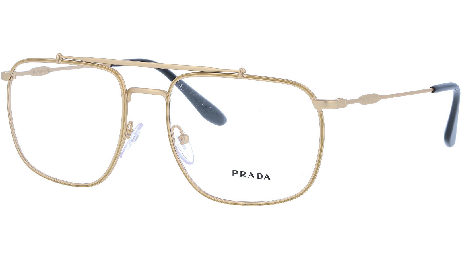 PRADA PR56UV 1BK1O1 55 GOLD Glasses