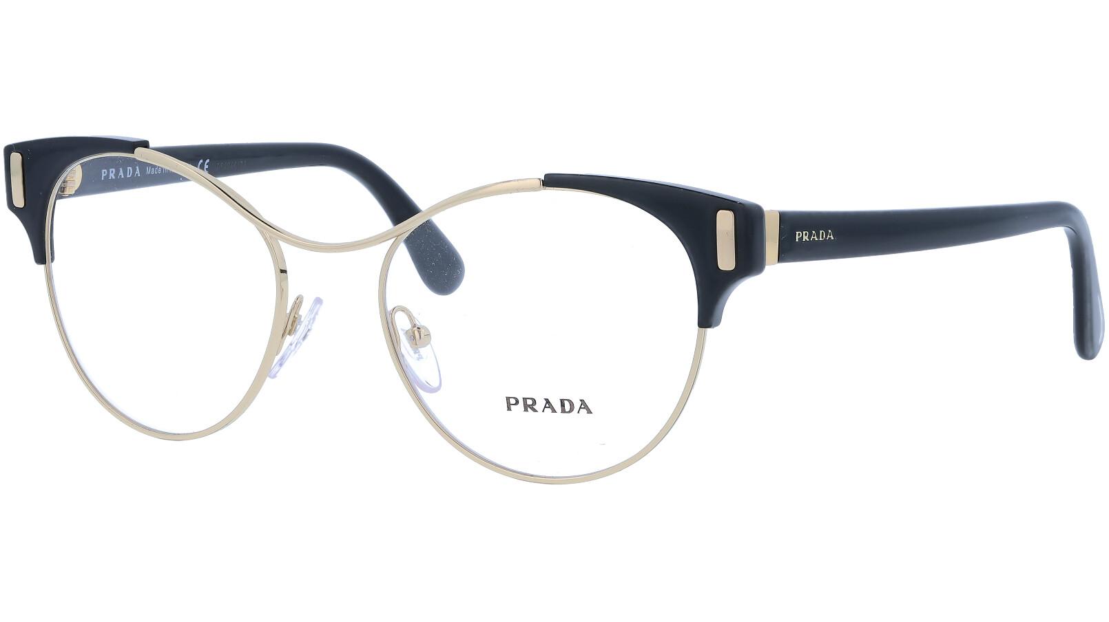 Prada PR61TV 1AB1O1 52 Gold Glasses