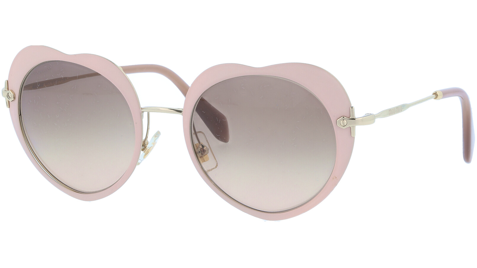 Miu Miu MU54RS U6I3DO 52 Pink Heart Sunglasses