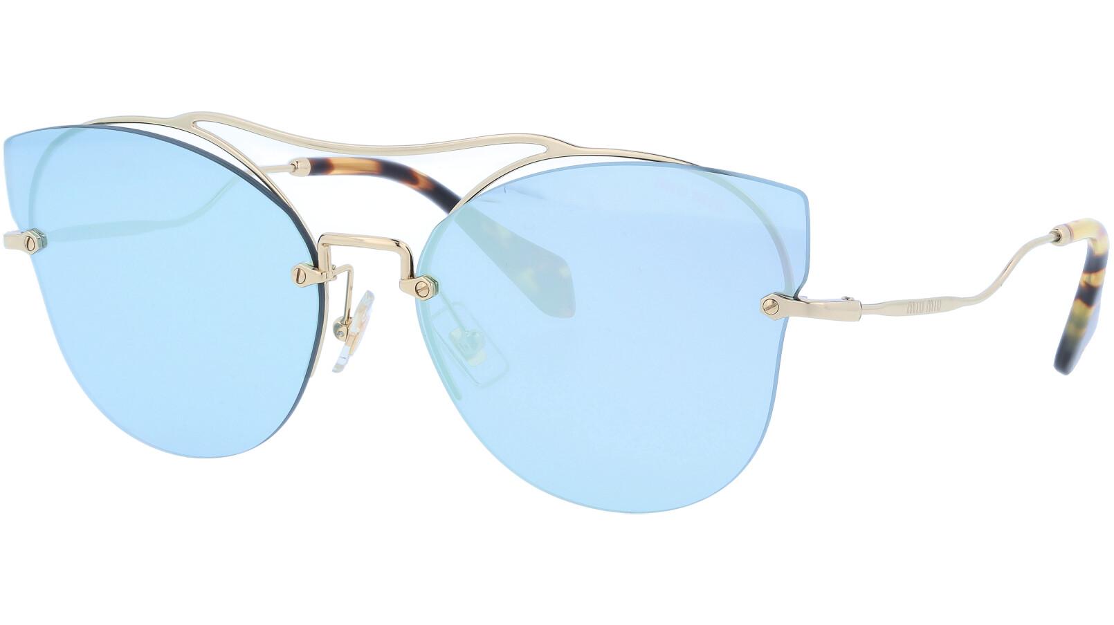 MIU MIU MU52SS ZVN5Q0 62 Blue Cat-Eye Sunglasses