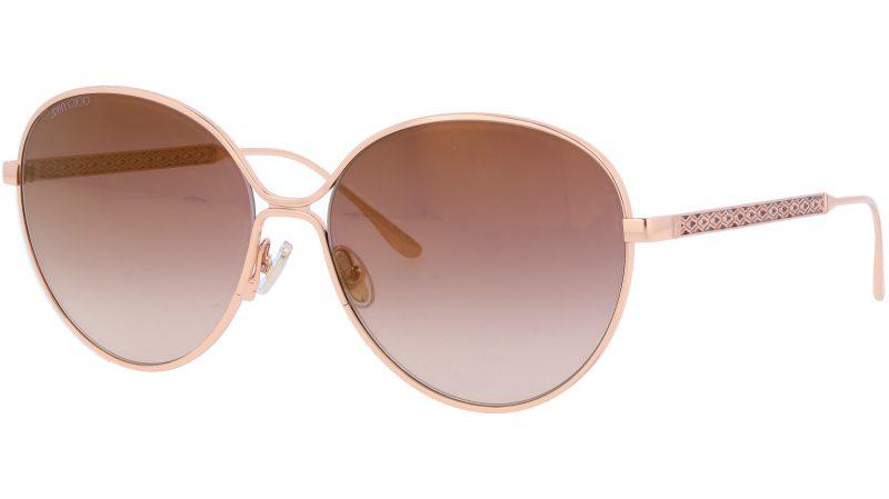 Jimmy Choo NEVAFS BKUJL 60 Gold Sunglasses