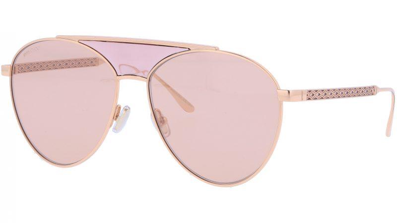 Jimmy Choo AVES BKU2S 58 Gold Sunglasses