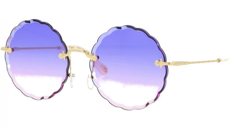 Chloé CE142S 861 60 Gold Violet Round Sunglasses