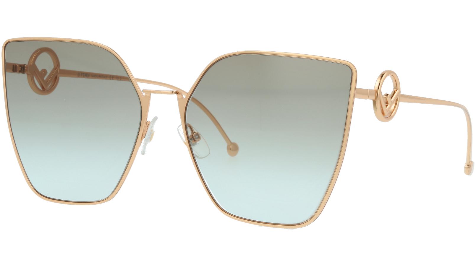 FENDI FF0323/S DDB86 63 Gold Copper Cat-Eye Sunglasses