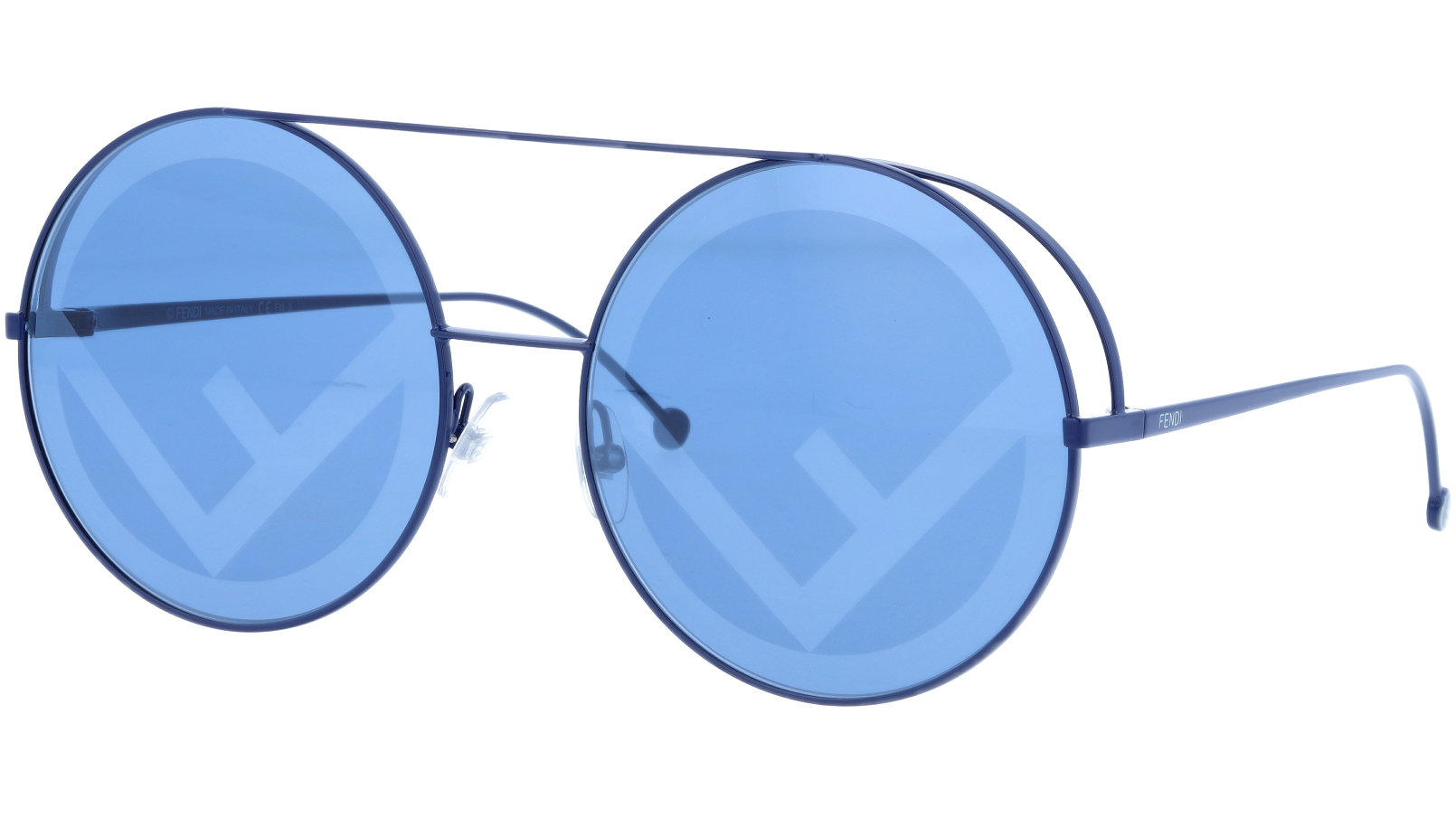 FENDI FF0285/S PJP8N 63 Blue Round Sunglasses