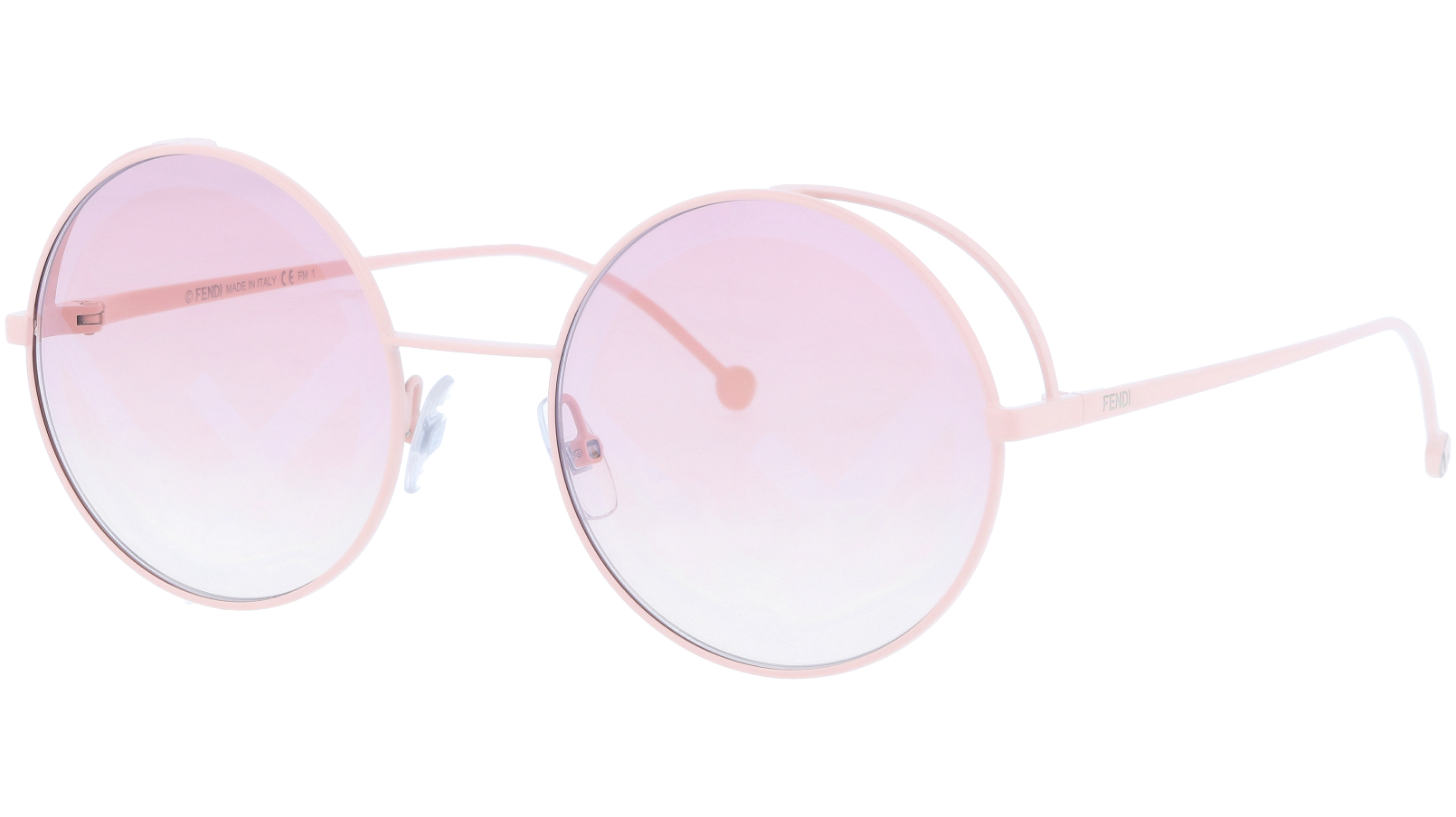 FENDI FF0343/S 35J01 53 Pink Round Sunglasses
