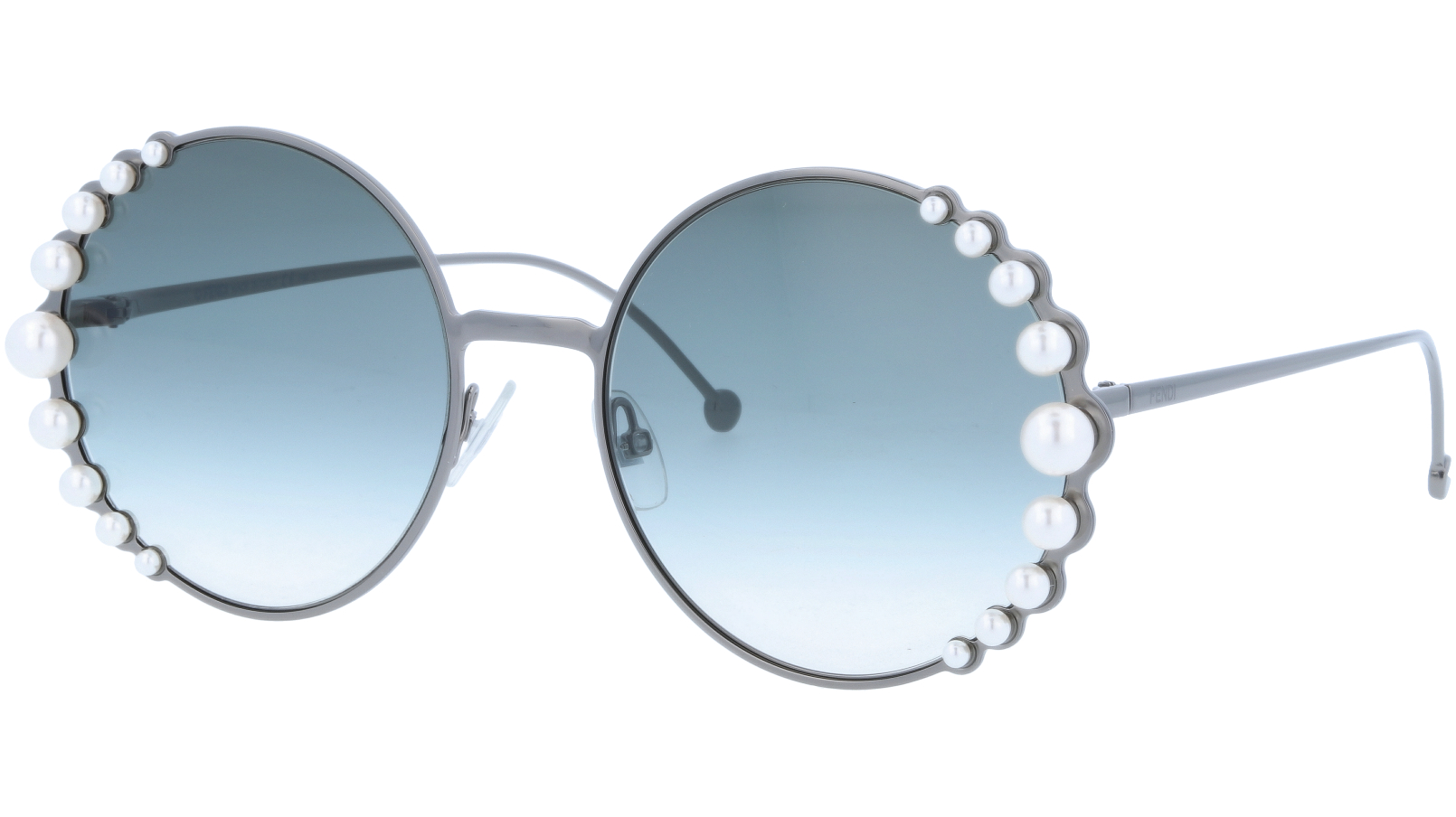 FENDI FF0295/S KJ190 58 DK Ruthenium Pearl Sunglasses