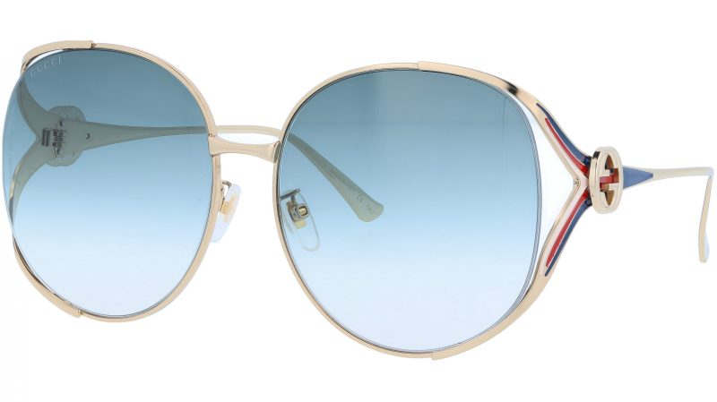 GUCCI GG0225S 004 63 GOLD Sunglasses