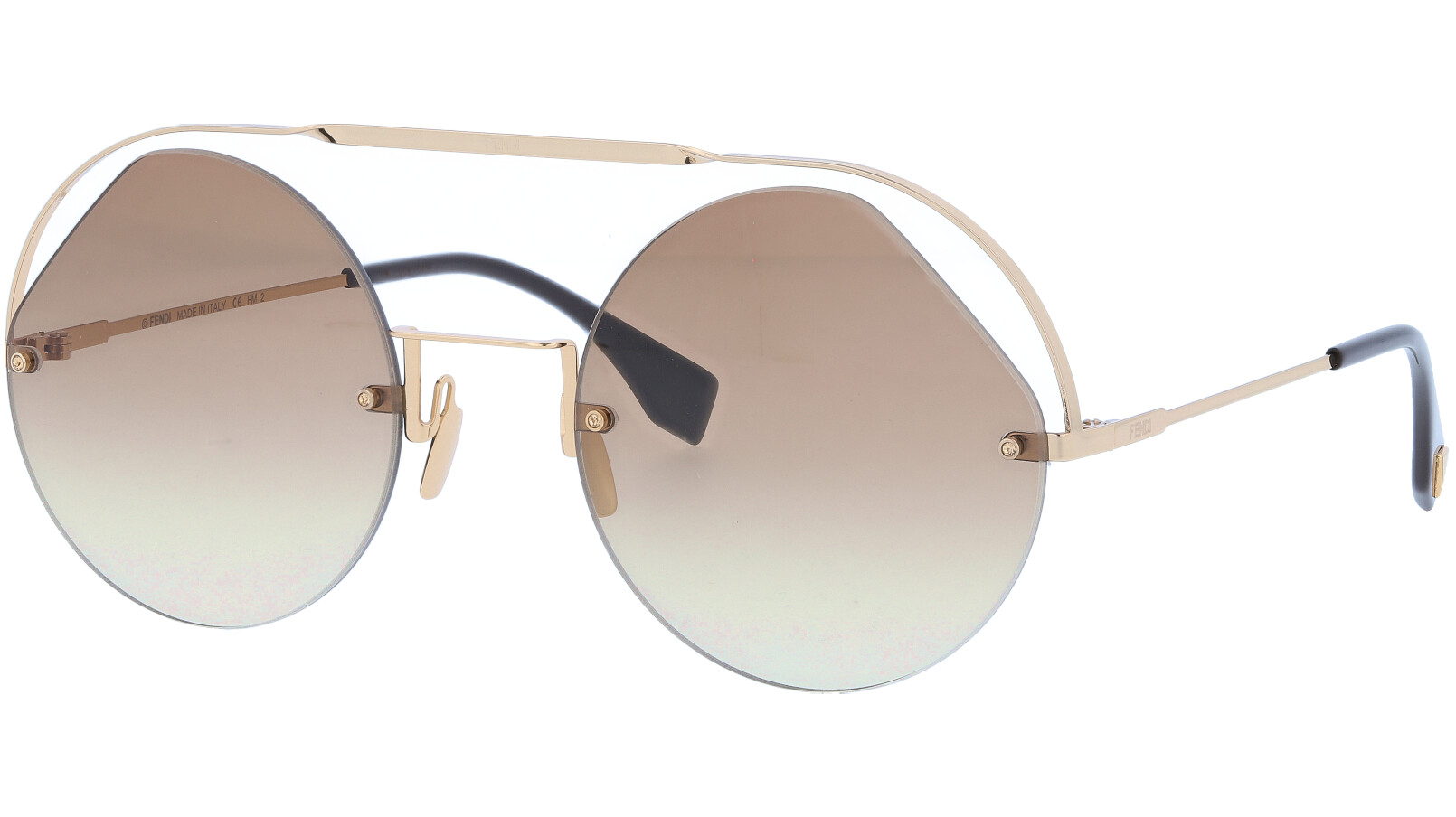FENDI FF0325/S 09QHA 56 Brown Round Sunglasses