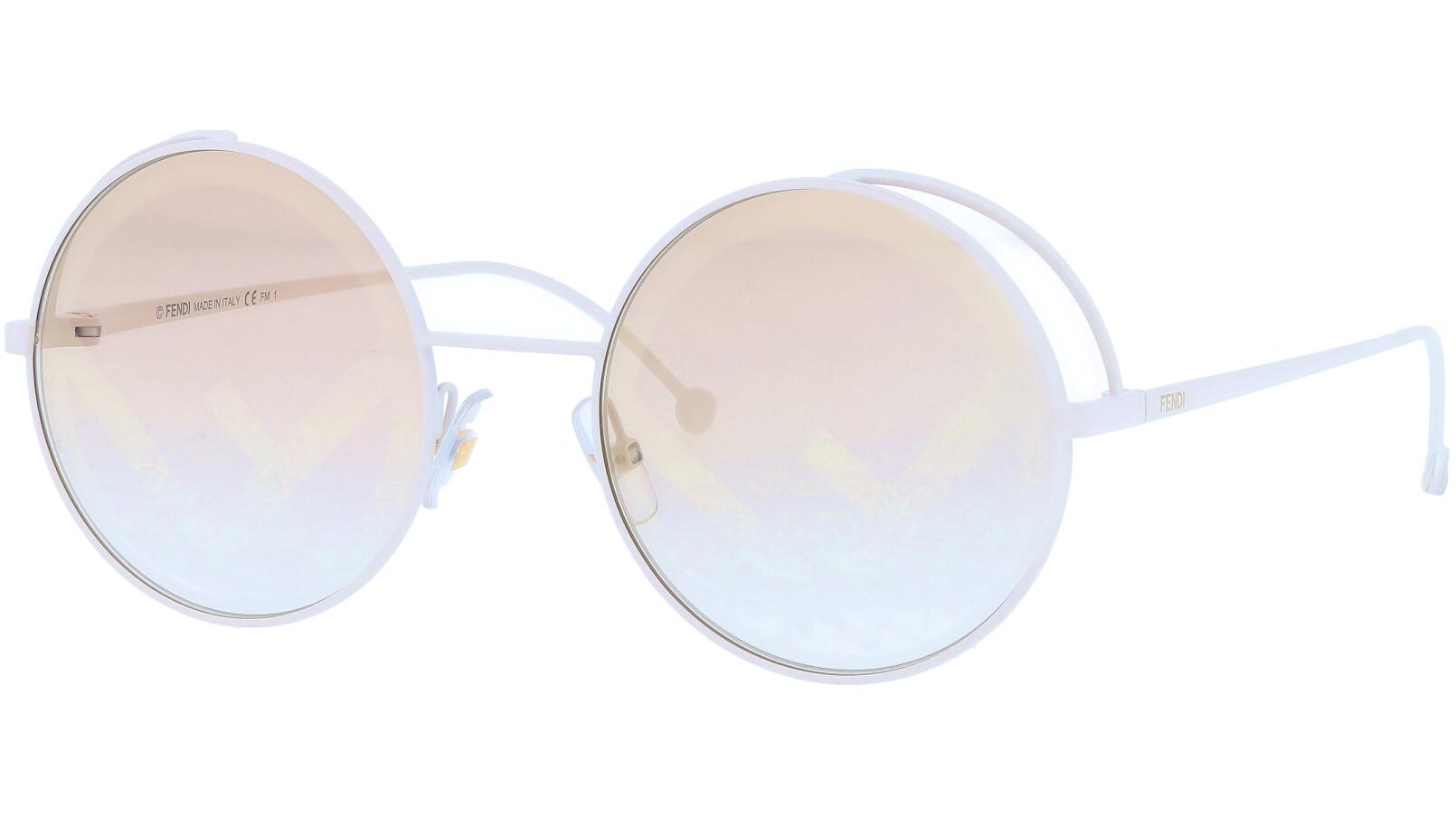 FENDI FF0343/S VK6EB 53 White Round Sunglasses