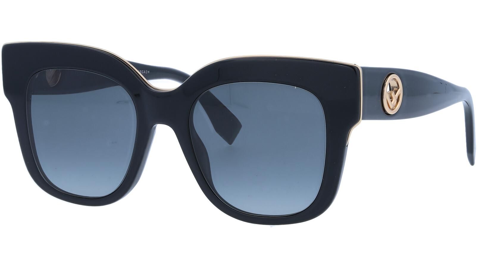 FENDI FF0359/G/S 80790 51 Black Square Sunglasses
