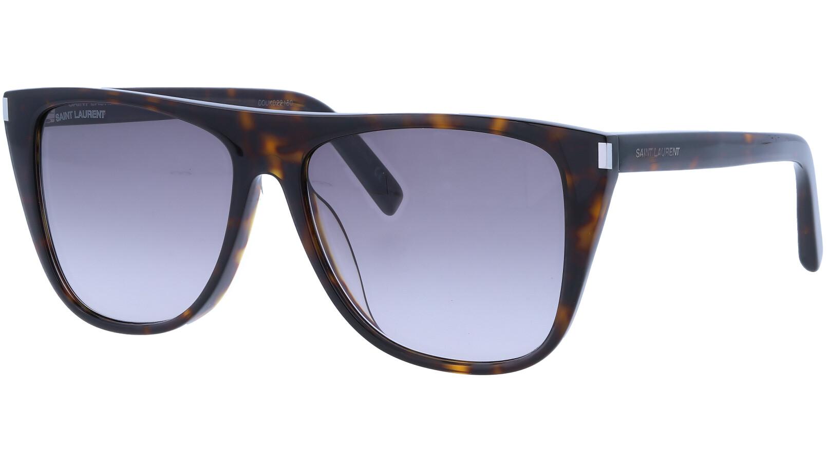 Saint Laurent SL1F 003 58 Havana Sunglasses