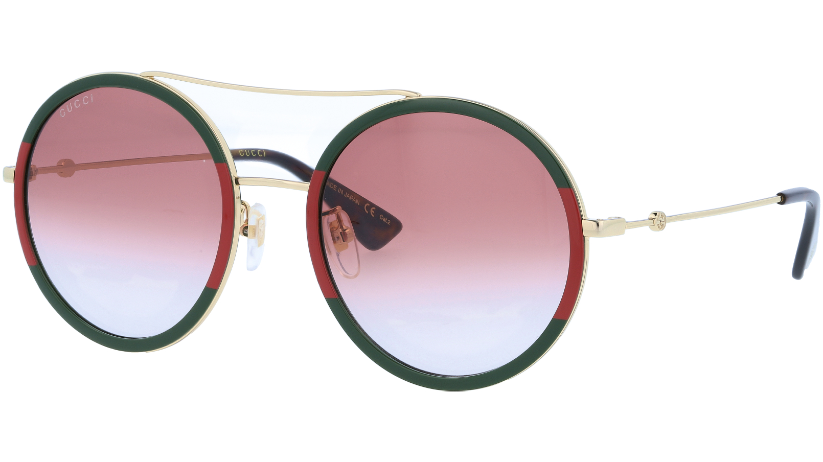 GUCCI GG0061S 010 56 GOLD Sunglasses
