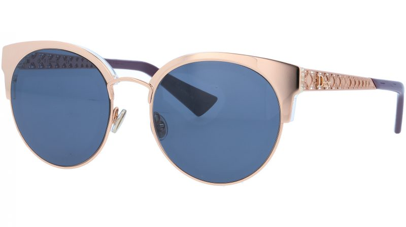 Dior ama mini DDBKU 54 Gold Sunglasses