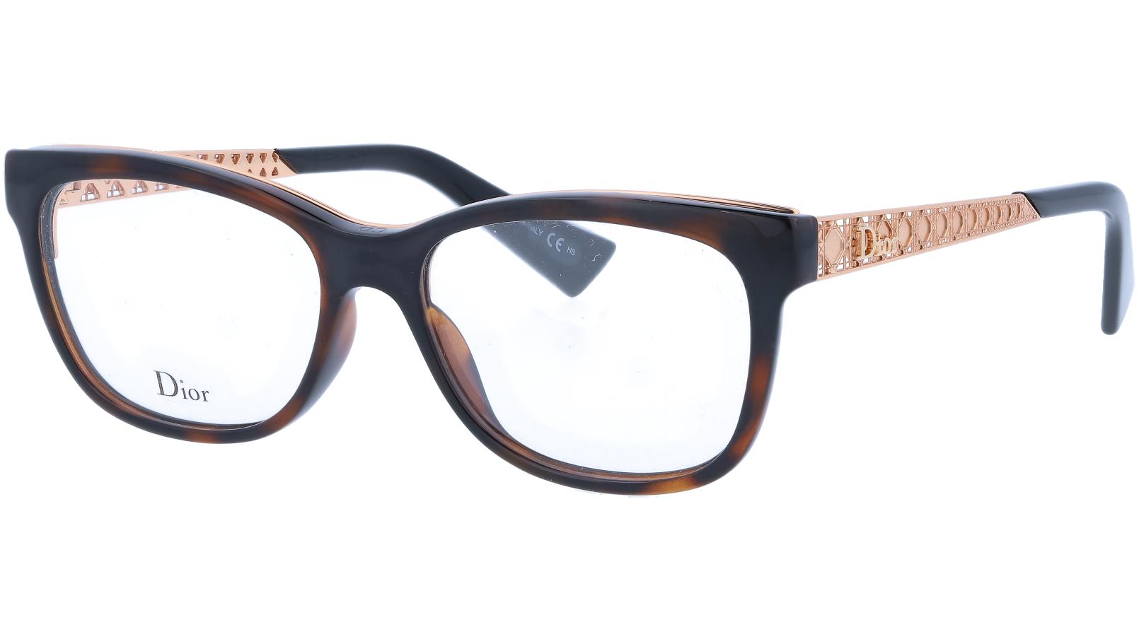 Dior AMAO1 EOG 53 Havana Glasses