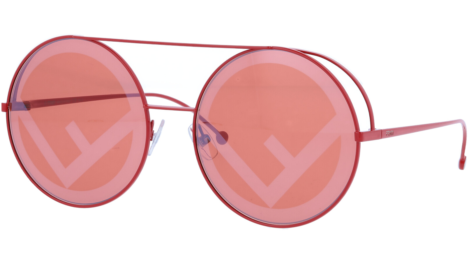 FENDI FF0285/S 0C9OL 63 RED Round Sunglasses