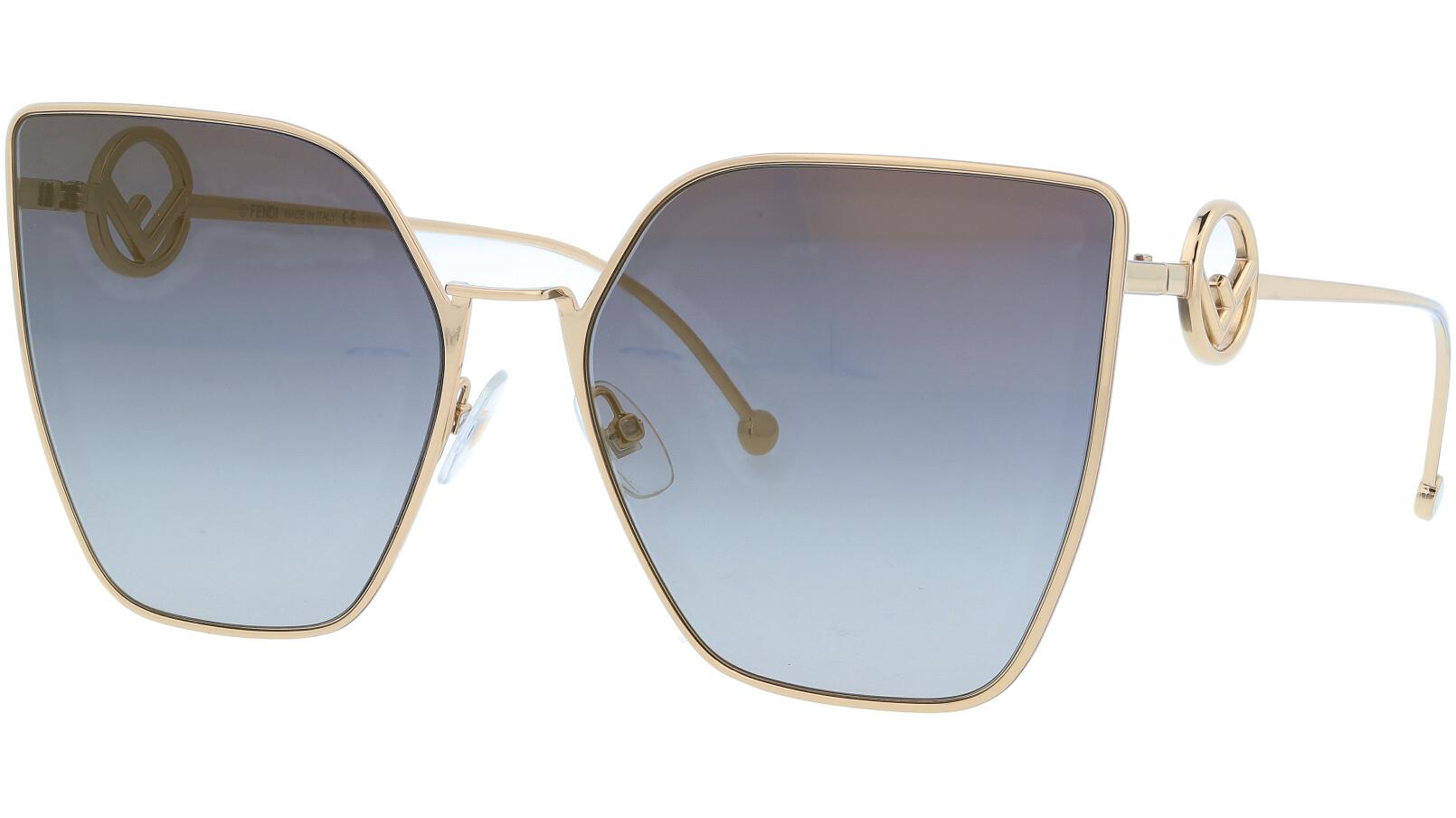FENDI FF0323/S FT3FQ 63 Grey Gold Cat-Eye Sunglasses