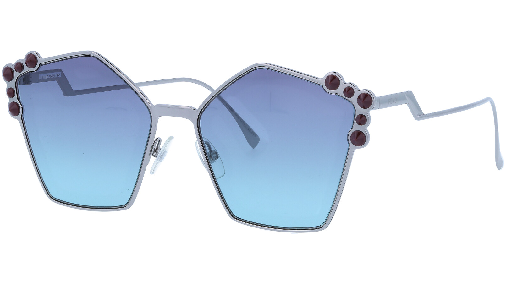 FENDI FF0261/S 6LBJF 57 Ruthenium Studded Pentagon Sunglasses