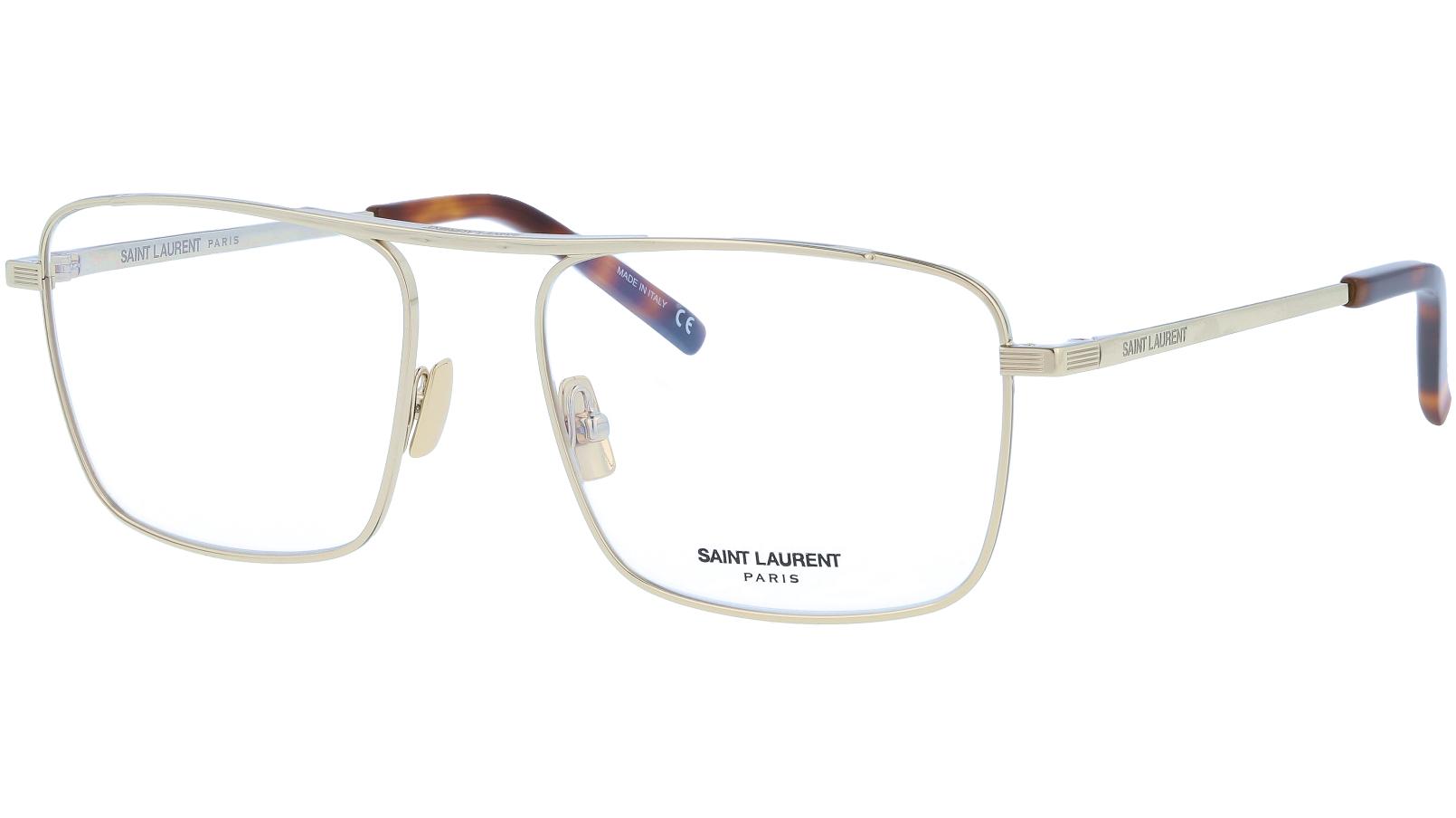 Saint Laurent SL152 002 55 Gold Glasses
