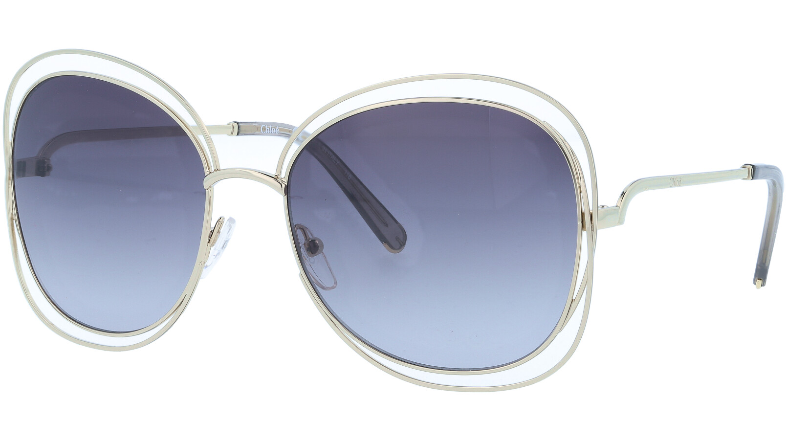CHLOE CE119S 734 60 Gold Carlina Aviator Sunglasses