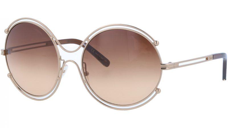 Chloé CE122S 786 59 Rose Gold Isidora Round Sunglasses