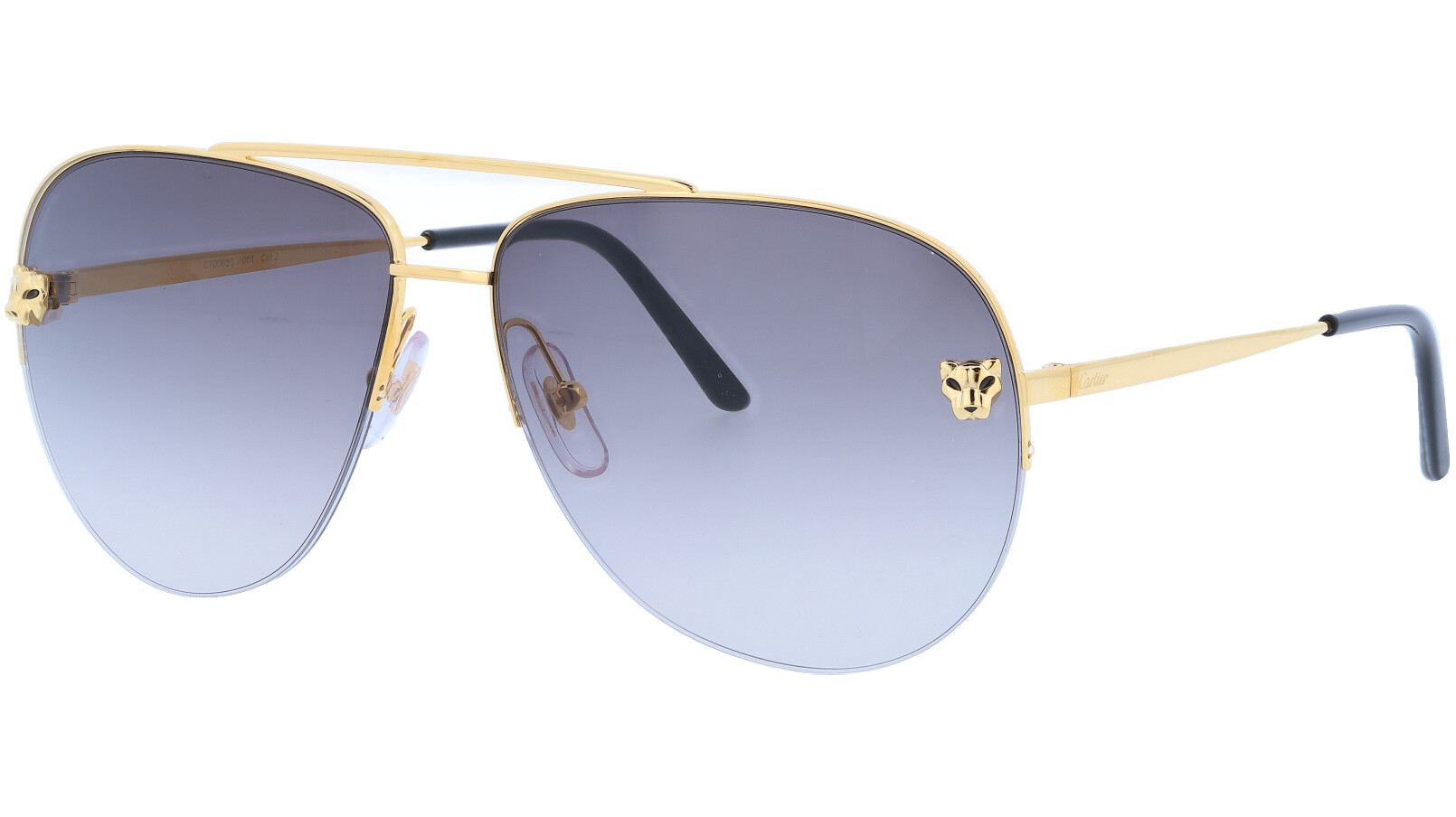 Cartier CT0065S 001 60 Gold Aviator Sunglasses