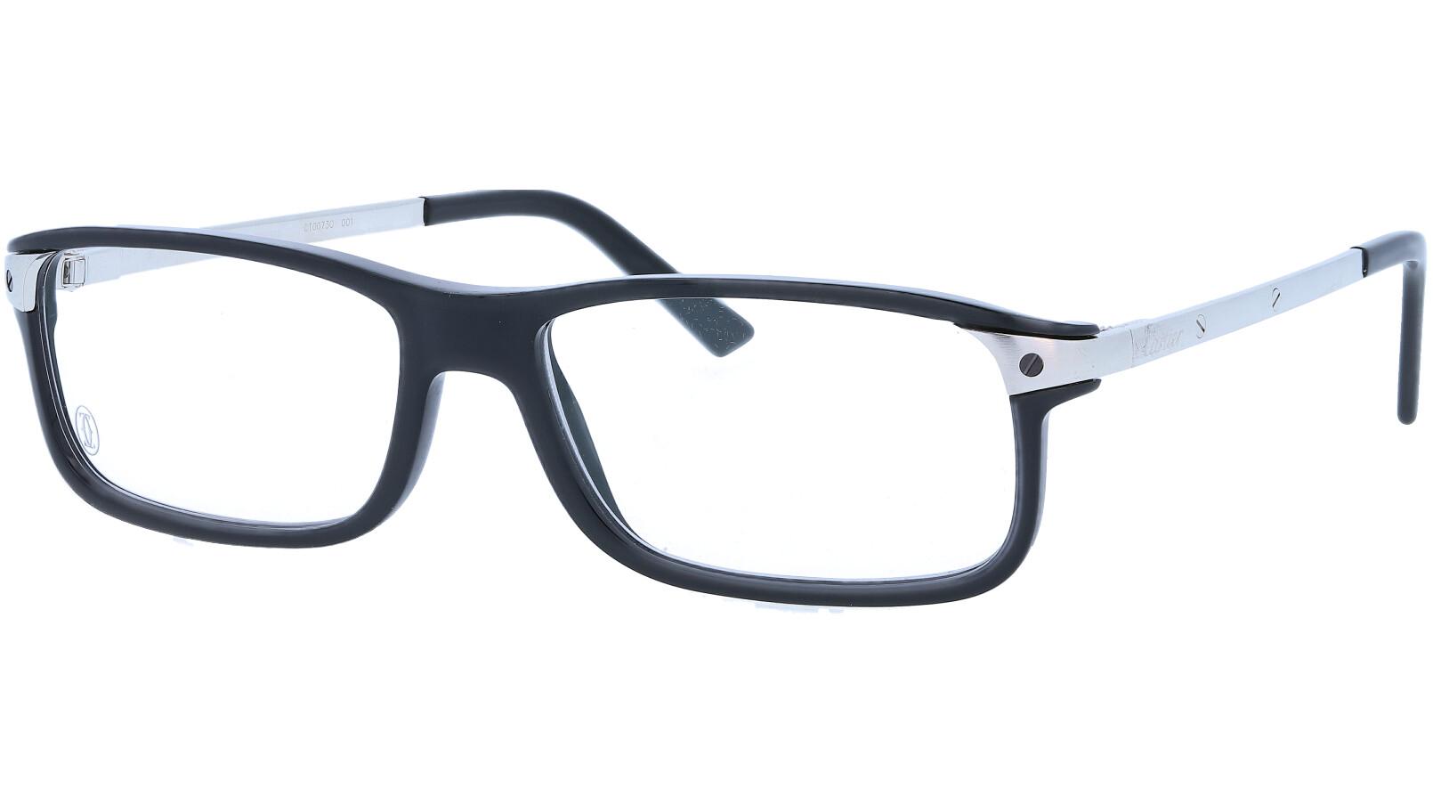 Cartier CT0073O 001 55 Black Full Rim Glasses