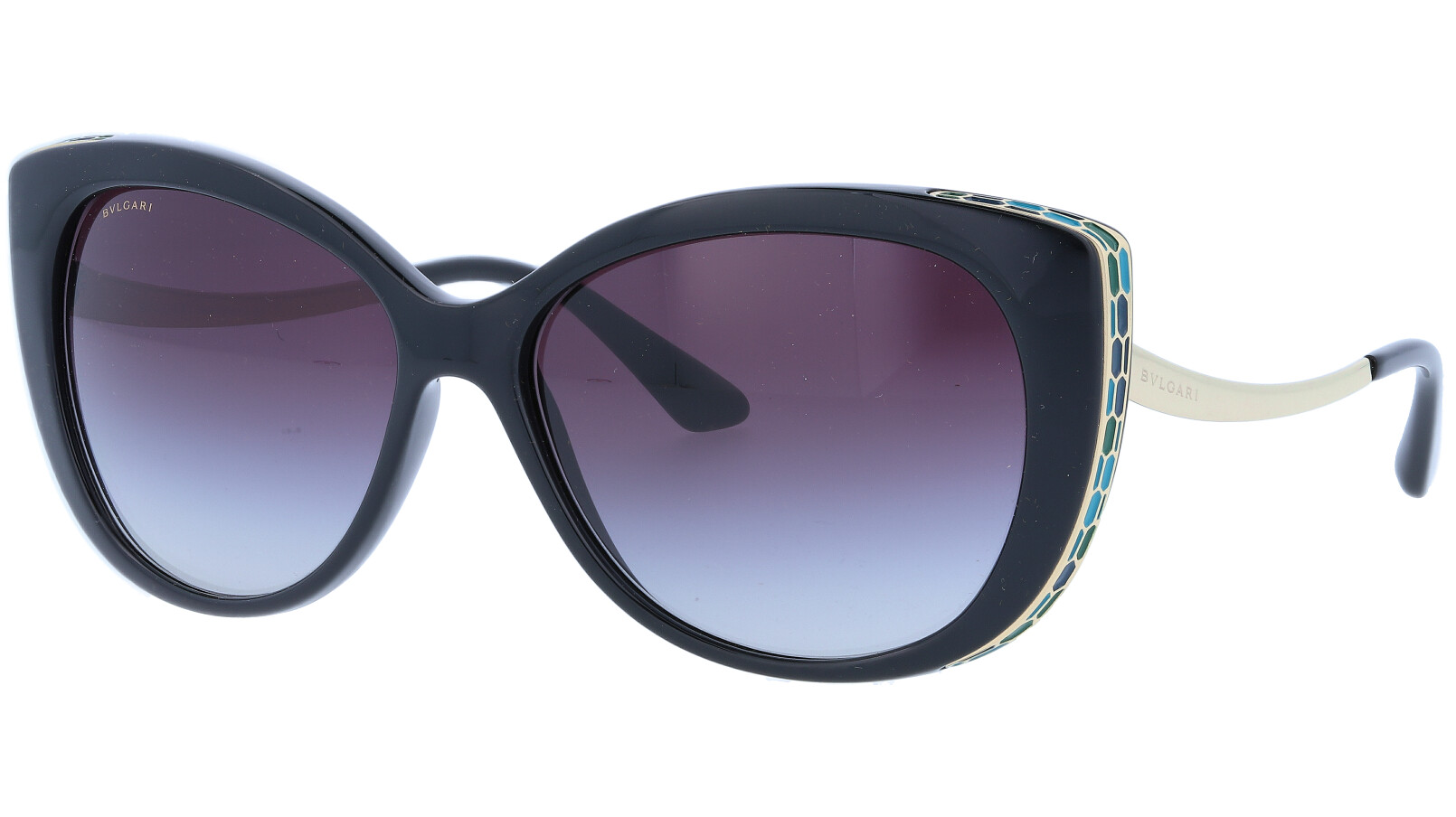 BVLGARI BV8178 9018G 57 BLACK Sunglasses