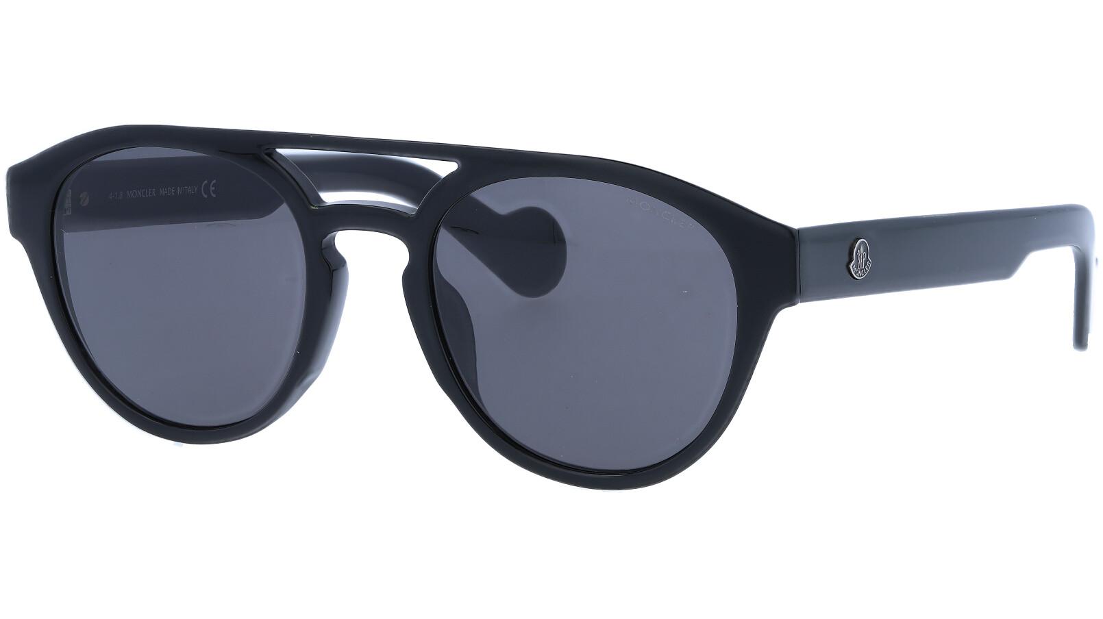 MONCLER ML0075S 01A 52 BLACK Sunglasses