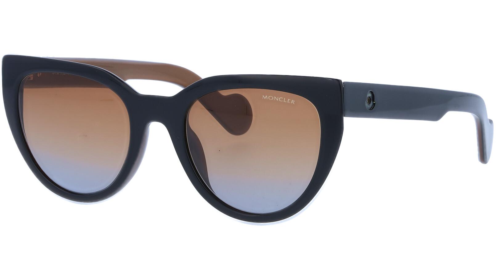 Moncler ML0076S 05F 50 Black Sunglasses