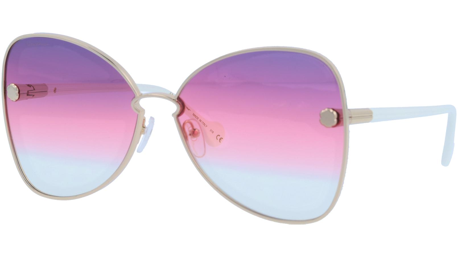 Salvatore Ferragamo SF184S 705 64 Gold Sunglasses