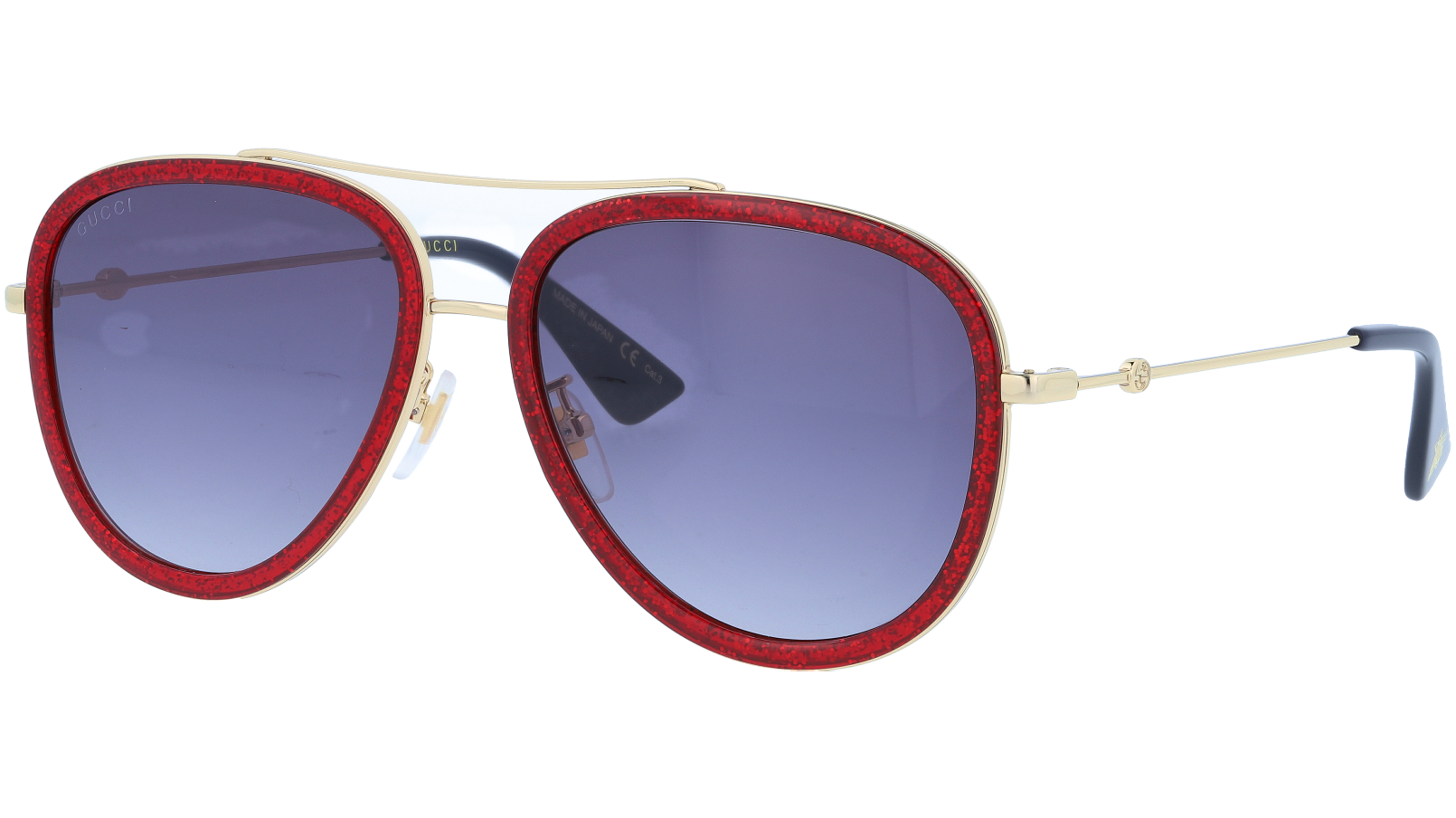 GUCCI GG0062S 013 57 GOLD Sunglasses