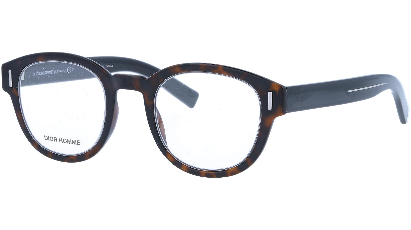 Dior FRACTIONO3 086 47 Dark Havana Glasses