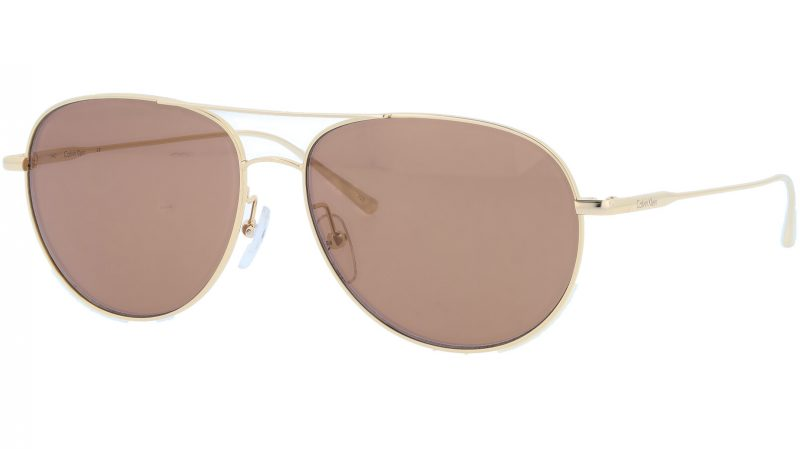 Calvin Klein CK2155S 714 57 Gold Sunglasses