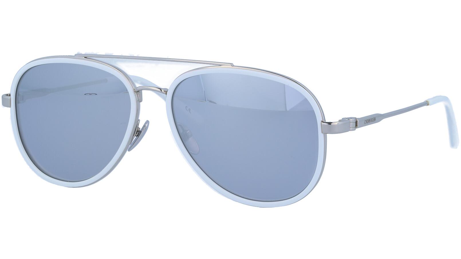 CALVIN KLEIN CK18103S 100 57 WHITE Sunglasses
