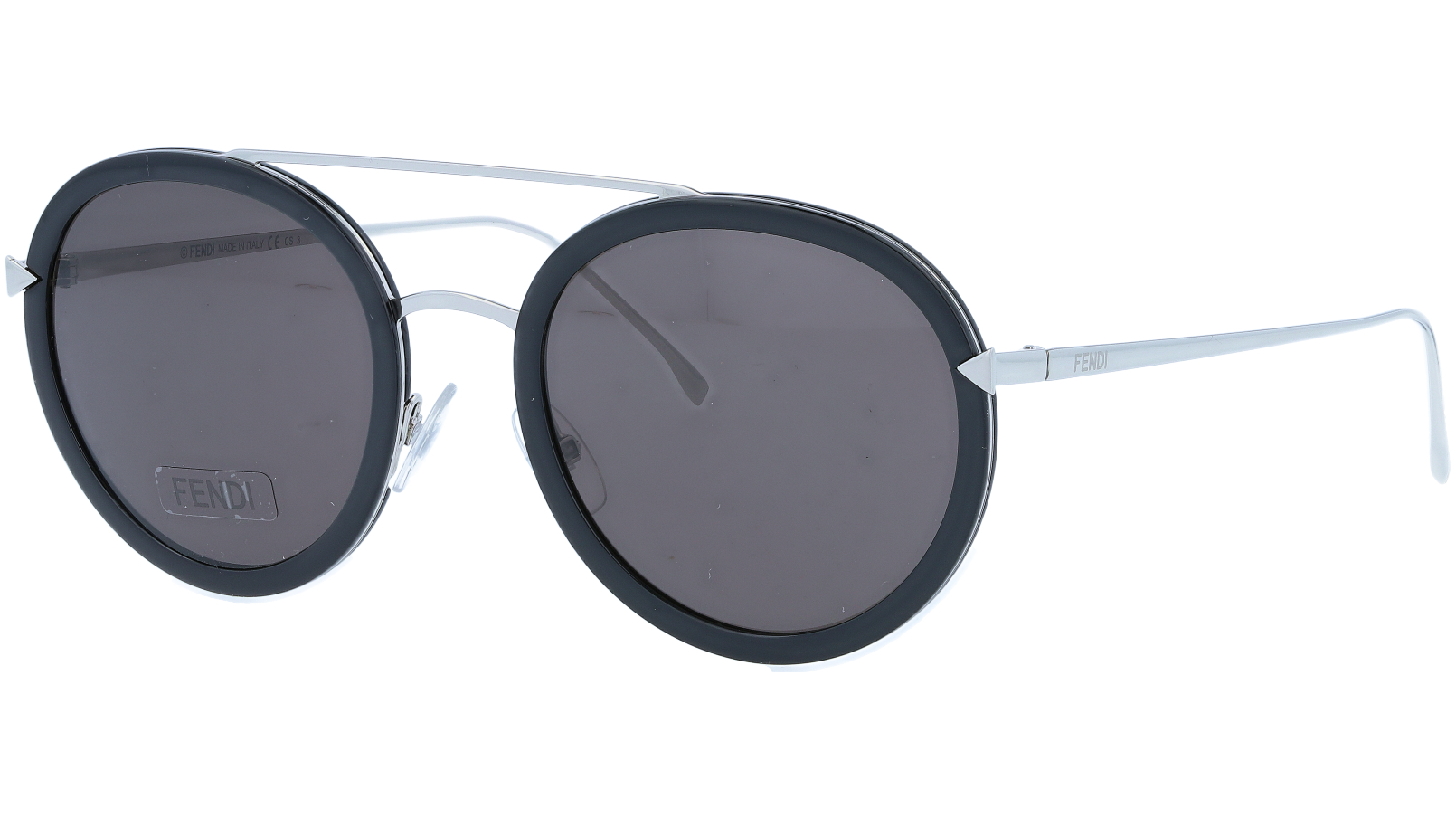 FENDI FF0156/S RMGNR 51 Black Round Sunglasses