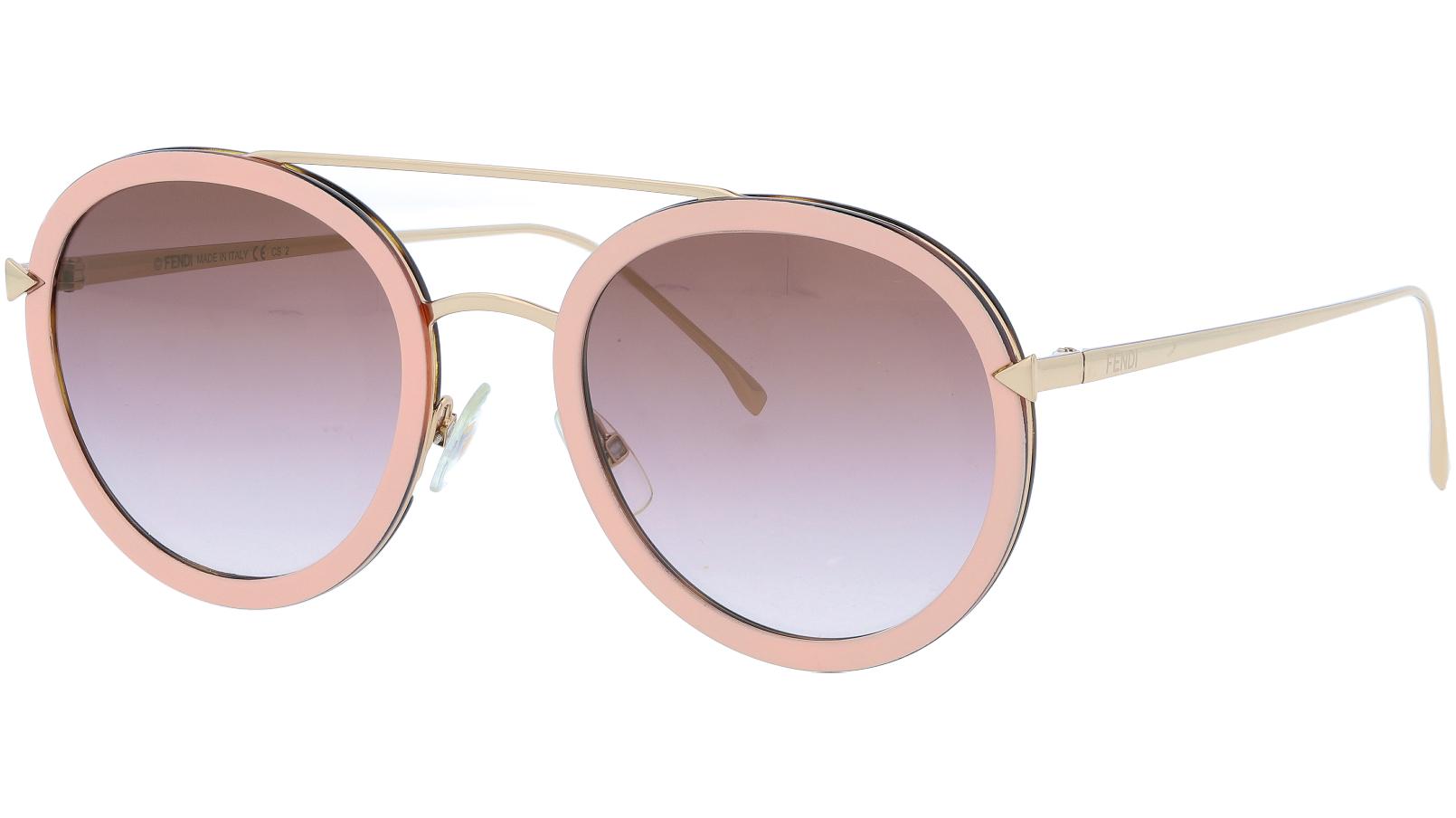 FENDI FF0156/S V54QH 51 Pink Round Sunglasses