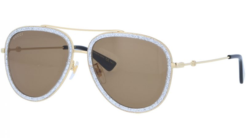 GUCCI GG0062S 004 57 GOLD Sunglasses