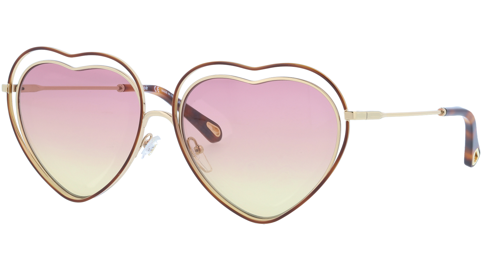 CHLOE CE131S 239 61 Havana Rose Poppy Heart Sunglasses