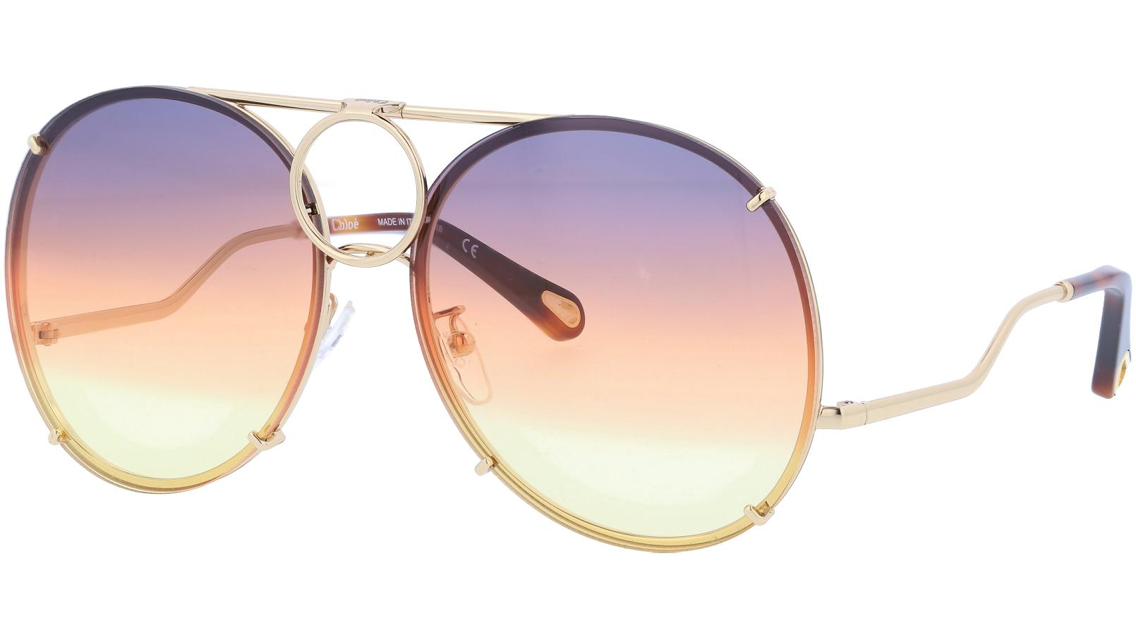 CHLOE CE145S 812 61 Gold Vicky Aviator Sunglasses