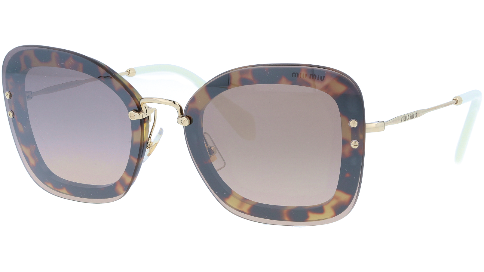 MIU MIU MU02TS 7S04P0 65 Havana Cat-Eye Sunglasses